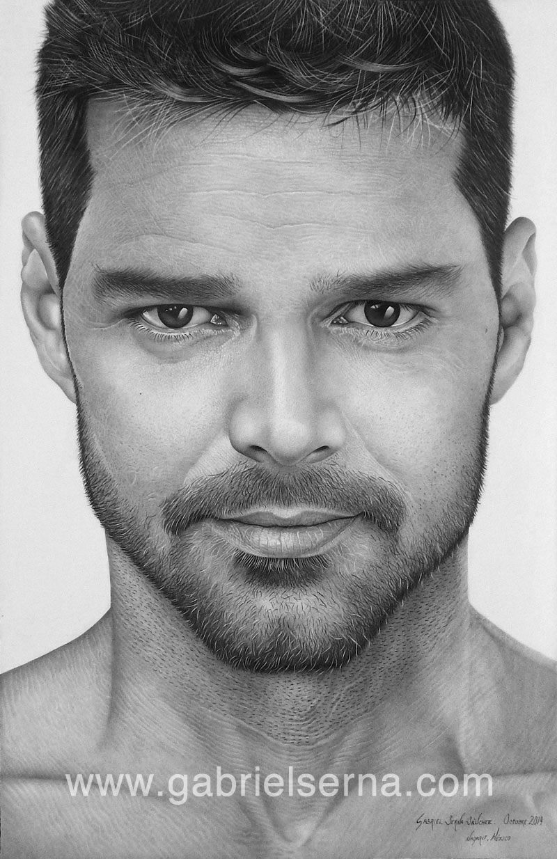 Ricky Martin - Pencil Drawing