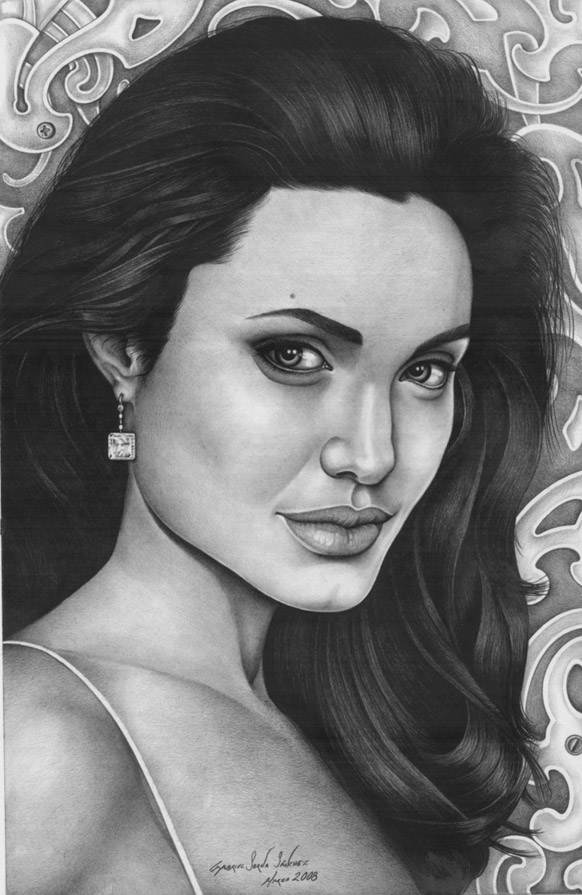 Angelina Jolie - Pencil Drawing