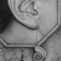 Listen - Detail - Pencil Drawing by Gabriel Serna