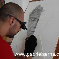 Ian McKellen - Detail - Pencil Drawing by Gabriel Serna