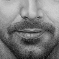 Ricky Martin - Detail - Pencil Drawing by Gabriel Serna